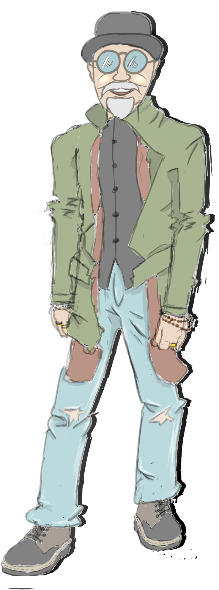 Flötschman Comik Figur